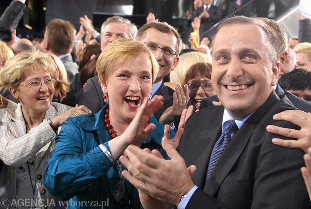 Grzegorz Schetyna na wieczorze wyborczym
