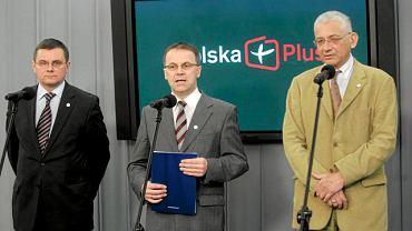 Członkowie Polski Plus - Jerzy Polaczek, Jarosław Selin i Ludwik Dorn