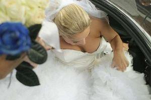 Joanna Liszowska na ślubie