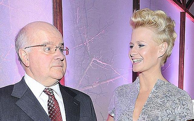 Małgorzata Kożuchowska z ojcem dr. Leszkiem Kożuchowskim.