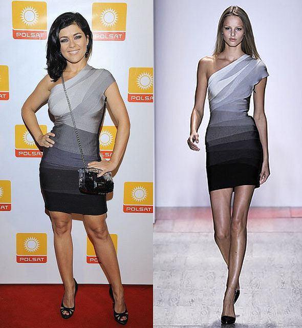 2010 r.: Kasia Cihopek w sukience Herve Leger