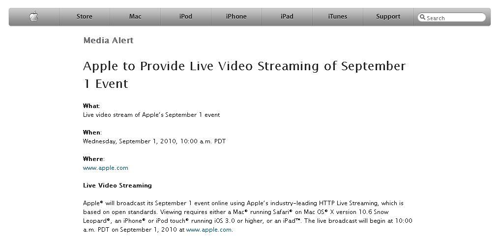 Apple Media Alert