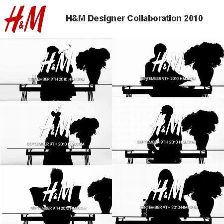 Kampania teaserowa H&M - H&M Designer Collaboration 2010
