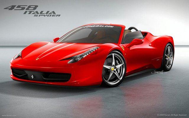 Ferrari 458 Italia Spyder Artists Rendering