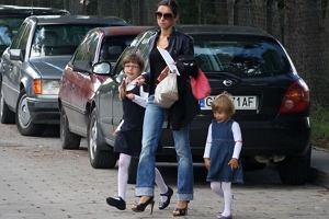 Marta Kaczyńska z córkami.