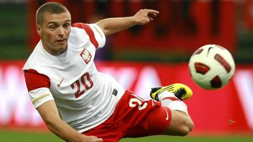 Wrzesień 2010. Maciej Iwański podczas meczu Polska - Ukraina