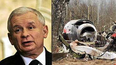 Jarosław Kaczyński i wrak Tu-154M