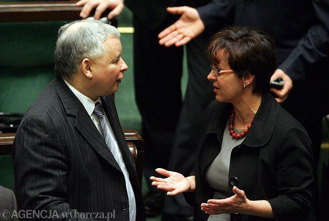 Joanna Kluzik-Rostkowska i Jarosław Kaczyński