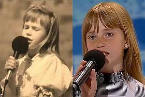 Doda w dzieciństwie i 11-letnia Magda Welc - uczestniczka Mam Talent.
