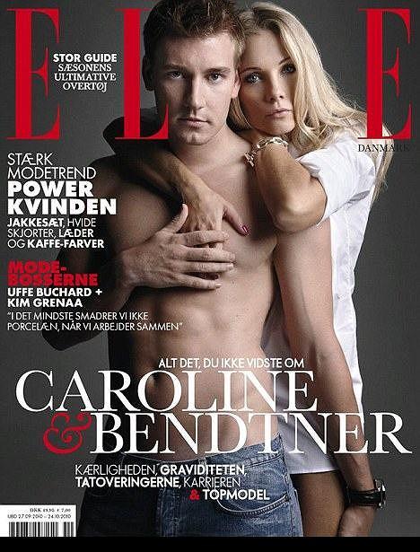 Nicklas Bendtner i Caroline Luel-Brockdorff na okładce Elle Magazine