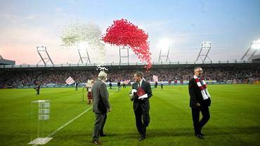 Stadion Cracovii podczas uroczystego otwarcia