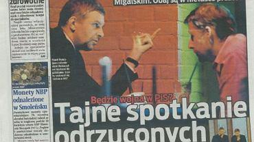 """Zdjęcia z """"tajnego"""" spotkania Migalskiego i Poncyljusza opublikował tabloid"""