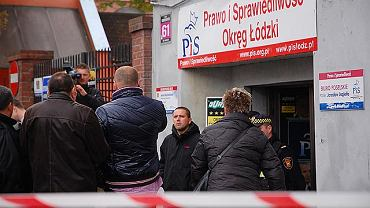 Strzelanina w siedzibie PiS w Łodzi
