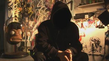 Anonimowy Banksy w filmie ''Wyjście przez sklep z pamiątkami''