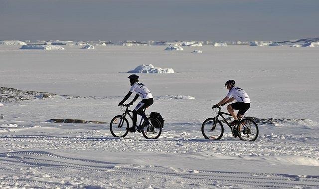 Rower na Antarktydzie
