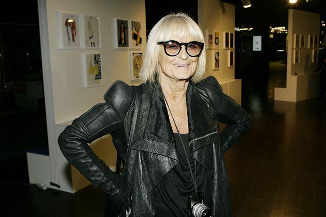 Barbara Hulanicka w Poznaniu w Starym Browarze podczas imprezy Art&Fashion Festival. Październik, 2010