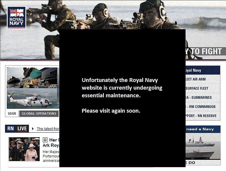 Zastępcza strona Royal Navy.
