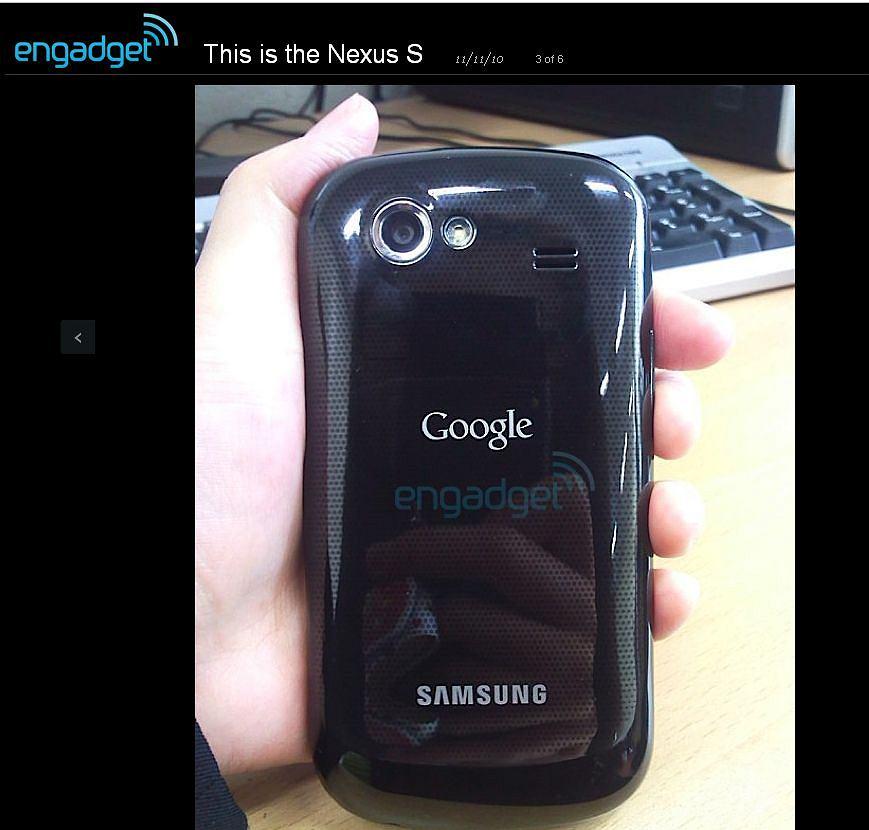 Engadget prezentuje telefon Nexus S - prawdopodobnego następcę Nexusa One