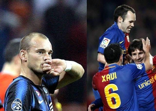 Wesley Sneijder, Andres Iniesta, Xavi, Leo Messi