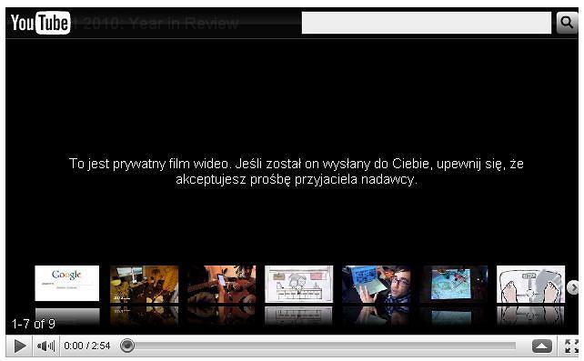 Film Google Zeitgeist 2010 myli Jarosława z Lechem Kaczyńskim