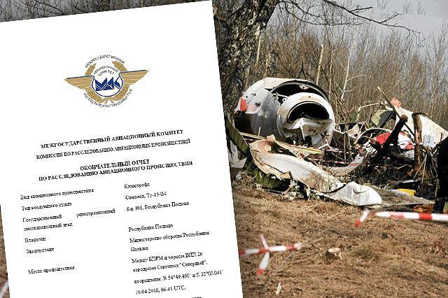 Raport MAK wylicza przyczyny katastrofy polskiego samolotu