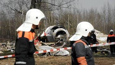 Miejsce katastrofy prezydenckiego TU-154M