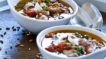 Zupa z farro (minestra di farro)