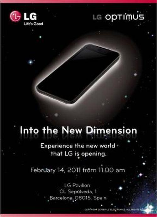 Na targach MWC LG zaprezentuje telefon z trójwymiarowym wyświetlaczem