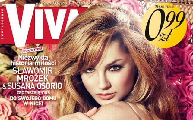 Małgorzata Socha na okładce ''Vivy''
