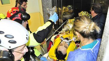 Robert Kubica przed zabraniem do szpitala