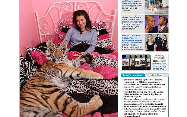 Nastolatka mieszkająca z tygrysem
