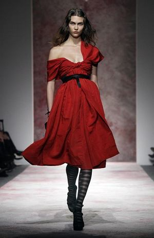 The fall 2011 collection of designer Prabal Gurung is modeled during Fashion Week in New York, Saturday, Feb. 12, 2011. (AP Photo/Richard Drew)