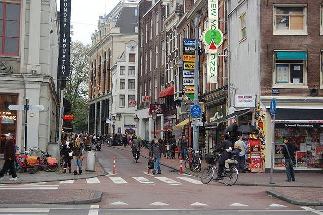 Ulica rowerowa w Amsterdamie