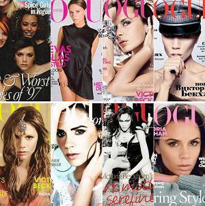 Wszystkie okładki Victorii Beckham w Vogue'u