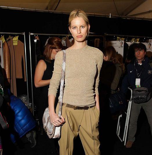 Karolina Kurkova na tygodniu mody w Nowym Jorku