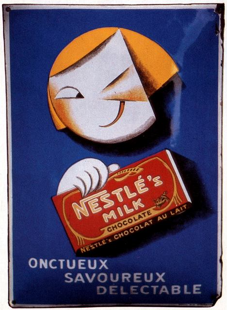 Francuska reklama mlecznej czekolady Nestle (1928 r.)