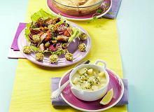 Sałatka z wędzoną rybą i kuleczkami z bryndzy - ugotuj