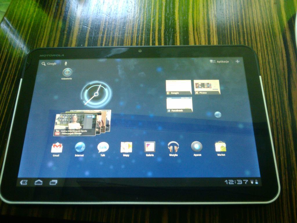 Tablet Motorola Xoom.