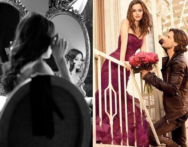 Jessica Biel w reklamie maskary Revlon i Leighton Meester w reklamie perfum Vera Wang Lovestruck