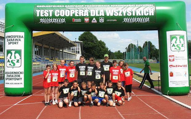 Grupa uczniów z ZS Gończyce przyjechała na test Coopera do Warszawy na AWF