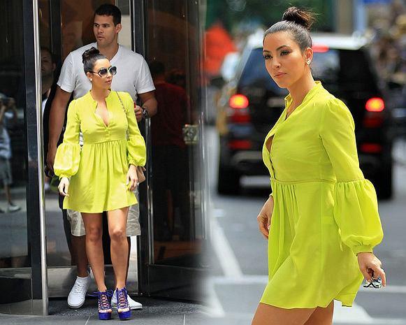 Kim Kardashian z narzeczonym w NY