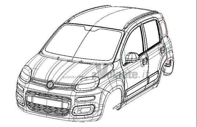 Fiat Panda III - szkice patentowe