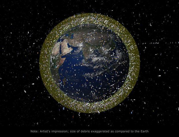 Kosmiczne śmieci na niskiej orbicie okołoziemskiej