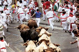 Biegnący z bykami