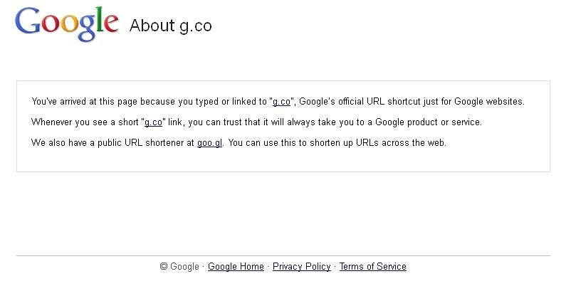 Google kupuje domenę G.Co