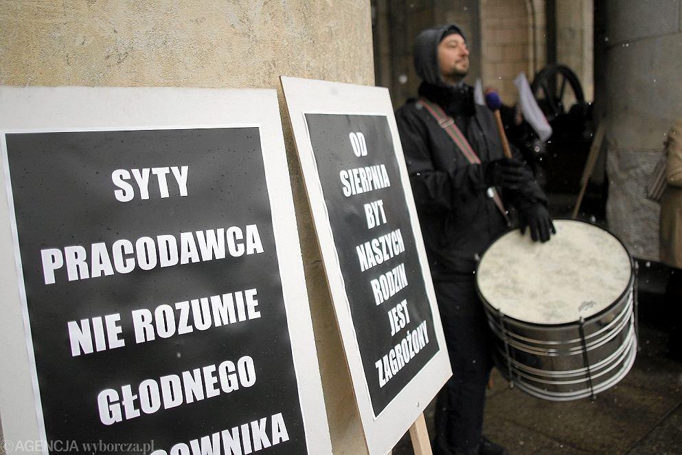 Protest pracowników Muzeum Techniki w Warszawie