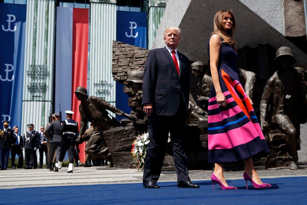 Prezydent USA Donald Trump - przemówienie na pl. Krasińskich. Warszawa, 6 lipca 2017