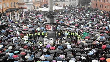 Czarny protest w Warszawie, 3 października 2016