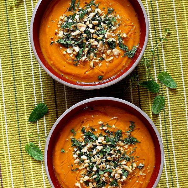 Tymiankowa zupa krem z brukwi i dyni