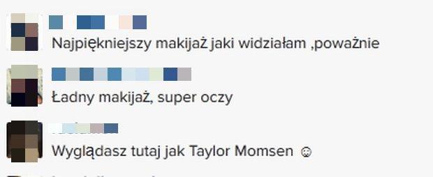 Komentarze na profilu Facebook.com/Agnieszka Kaczorowska